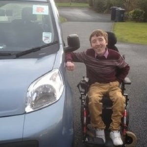 Conor Smyth after passing his driving test