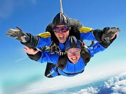 Picture of a tandem skydive