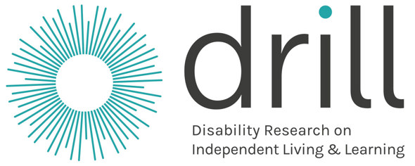 DRILL logo: disability research on independent living & learning