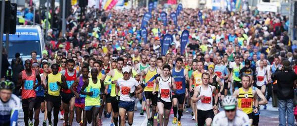 image of participants in Belfast City Marathon