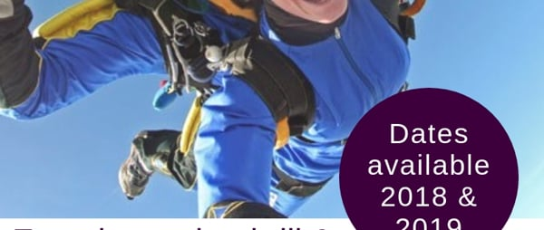 Skydive Charity Event Experience the thrill and excitement of jumping from a plane at 13,000ft! Image of tandem skydivers. Moonjumpers centre Garvagh. For further information or for a fundraising pack, please contact Clare Sheeran on Telephone: 028 9