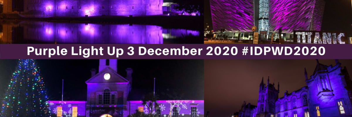 'Purple Light Up' to celebrate International Day of Disabled People 2020