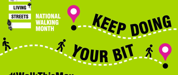 The Disability Action team is taking part in National Walking Month