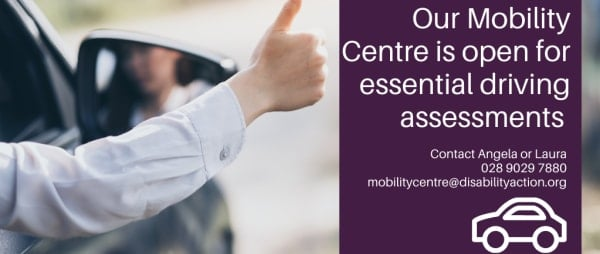 Our Mobility Centre remains open for essential driving assessments