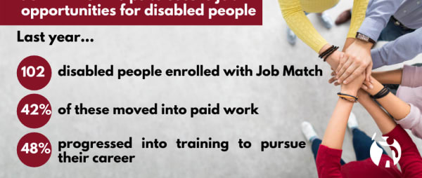 At Job Match we see a person's ability before their disability