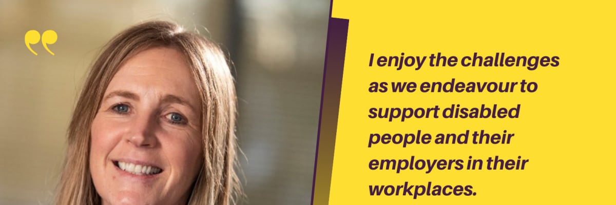 The Workable NI team provides support in the workplace