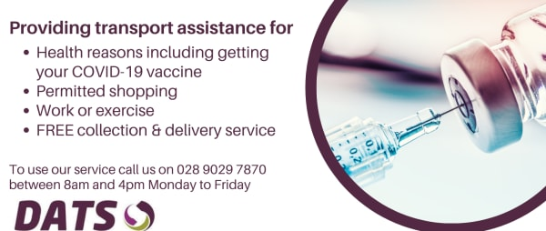 Need transport for health reasons including getting your COVID-19 vaccine?