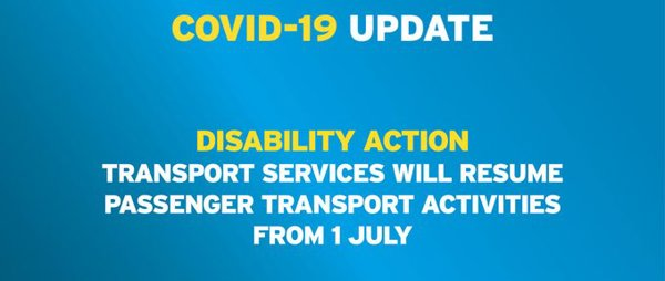 Resumption of Disability Action Transport Services