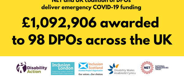 NET Emergency COVID-19 funding to Disabled People's Organisations
