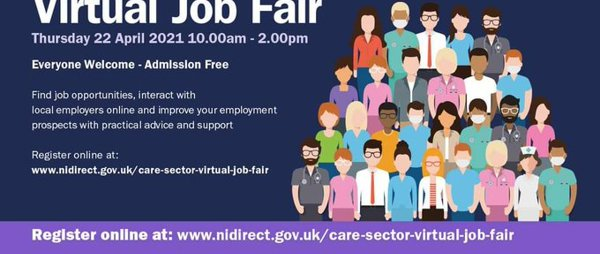FREE Virtual Care Sector Job Fair (NI wide)
