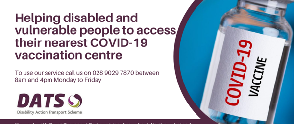 Helping disabled and vulnerable people to access their nearest COVID-19 vaccination centre